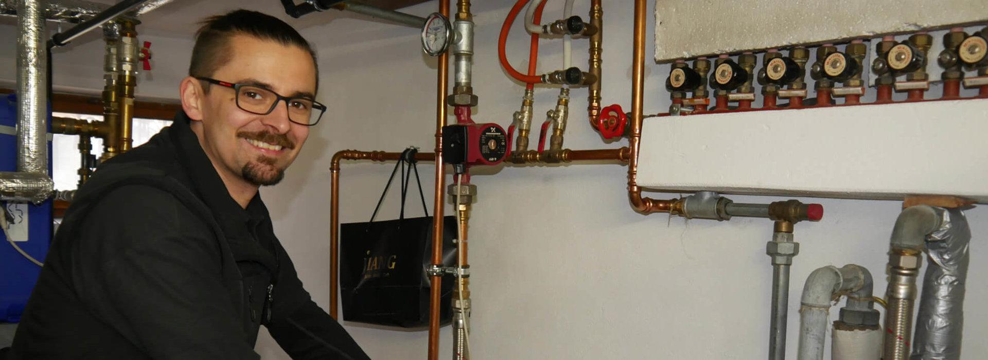Michael Unterlechner beim Ölbrenner Service