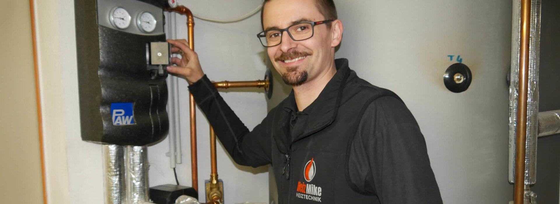 Michael Unterlechner beim Solaranlagen Service